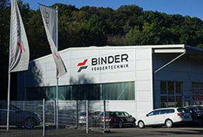 Rollenförderer, Eckumsetzer, Tablare: Im Stammwerk in Burgstetten entwickelt Binder hochwertige und funktionale Komponeten für den Materialfluss und die Intralogistik.