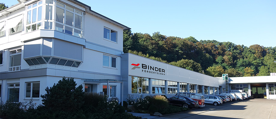 Das Werk von BINDER Fördertechnik in Burgstetten bei Stuttgart.