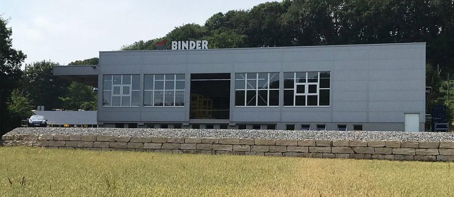Die neue Produktionshalle für Fördertechnik von BINDER.