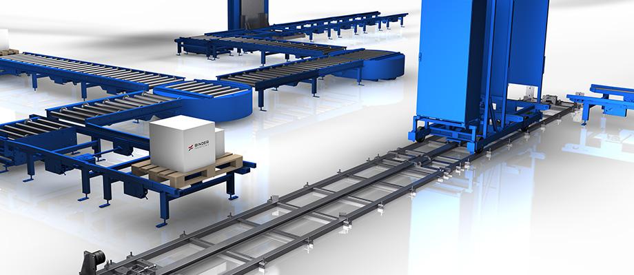 Für einen optimalen Materialfluss: Verschiebewagen von BINDER Fördertechnik.