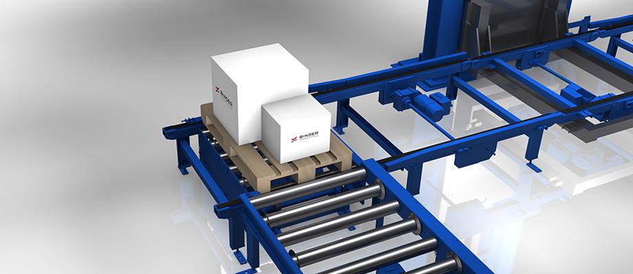 Für flexible Materialfluss-Lösungen: Eckumsetzer von BINDER.