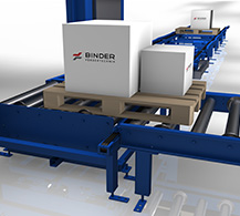 Angular Transfer Unit by BINDER material handling.