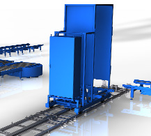 Transfer car by BINDER material handling.