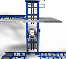 Vertical Conveyor by BINDER material handling.