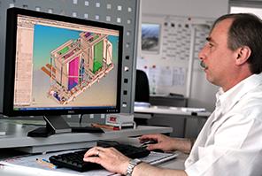 In unserer eigene Konstruktion entwerfen die BINDER-Ingenieure individuelle Intralogistik-Sonderlösungen.