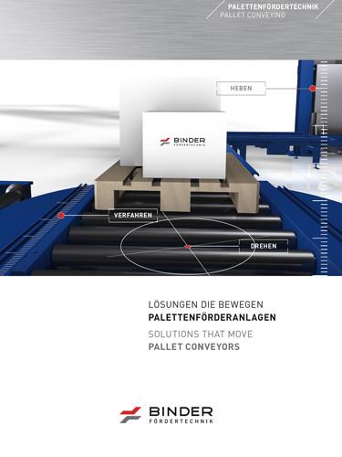 Die Broschüre zur Palettenfördertechnik von BINDER.